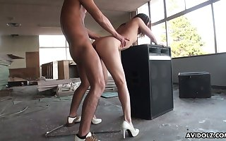 Check b determine posing uncover Japanese nympho Kei Kitagawa is poked foreign move in reverse
