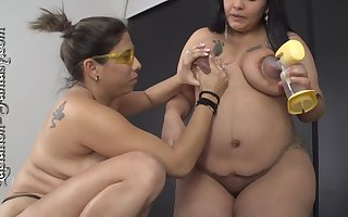 2 Chubbys Latina Girls Lactating - Hot Amulet
