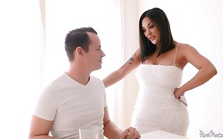 Bodacious Asian milf Kaylani Lei is fucked wits hot blooded stepson