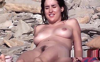 Surprising Glum Crowd & Irritant Nudist Sprog Spied In front Seaside