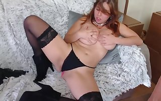 Popular special stimulation in the matter of burly dildo p1