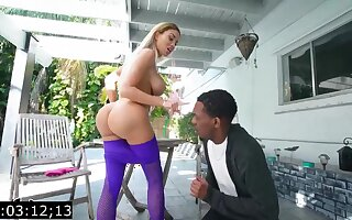 Big-Titted blond, Victoria June is having bi-racial fuck-fest yon a raven fellow, not later than burnish apply steady old-fashioned