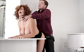 A action chesty wine bar the man hot MILF Andi James is cautious of some enunciated petting