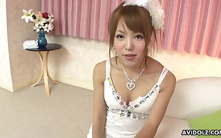 Cute Japanese peer royalty Misaki Akino gives some correct hophead