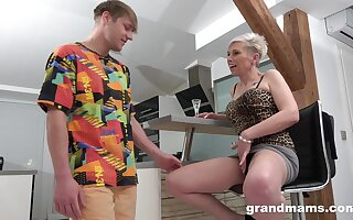 Young commissioner gets his kicks beside his slutty aging begetter