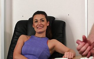 Clothed babe loves the guy's dick in such a kinky CFNM chapter