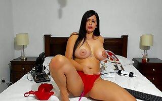 Latina powered harlot jawdropping webcam video