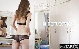 Hot Girl in funereal lace panties